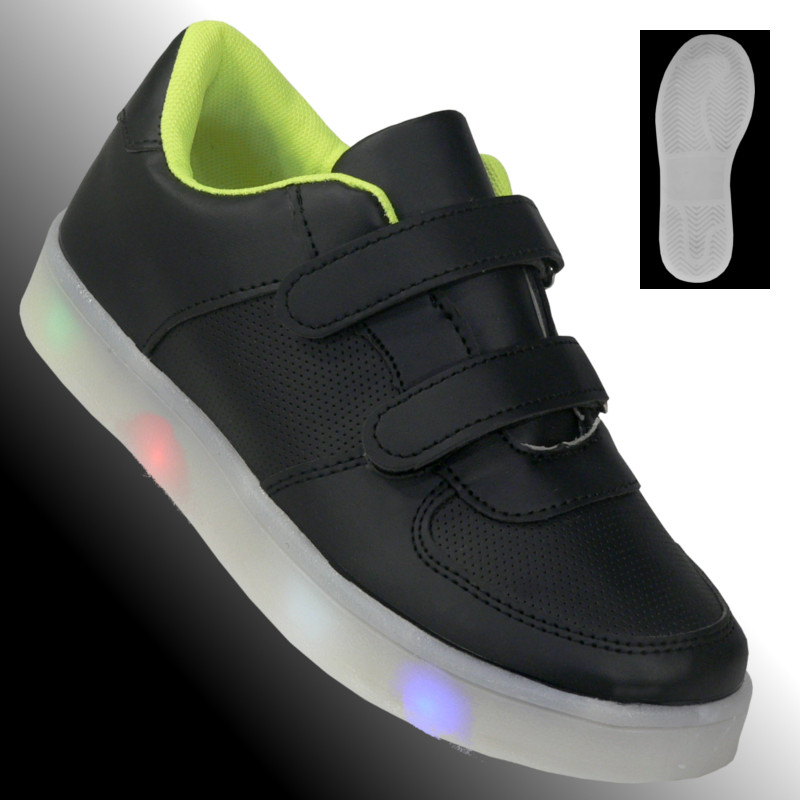 led kinder schuhe sportschuhe sneaker halbschuhe klett. Black Bedroom Furniture Sets. Home Design Ideas