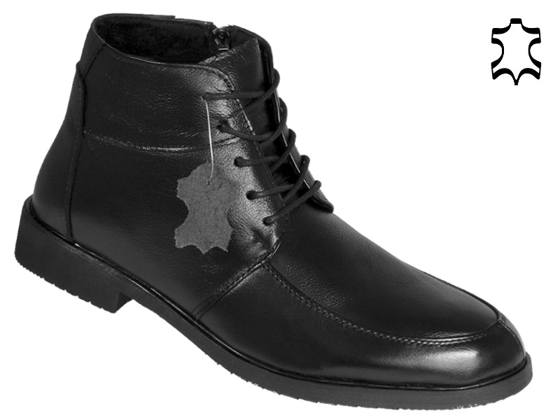 leder stiefel business winterschuhe herren boots anzugschuhe 504 schwarz gr 45 ebay. Black Bedroom Furniture Sets. Home Design Ideas